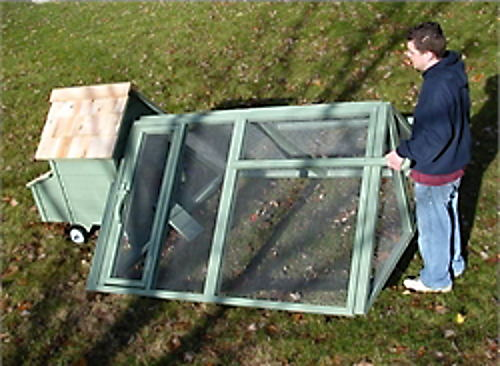 Save money on chickens with a tractor style coop