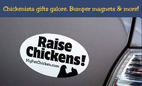gingerbread chicken coop contest: win a bumper magnet