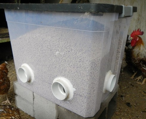 Diy No Waste Feeder On The My Pet Chicken Blog