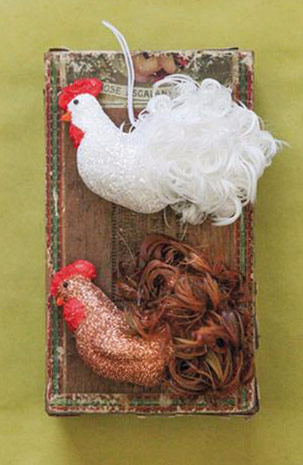 chicken gift - chicken ornament